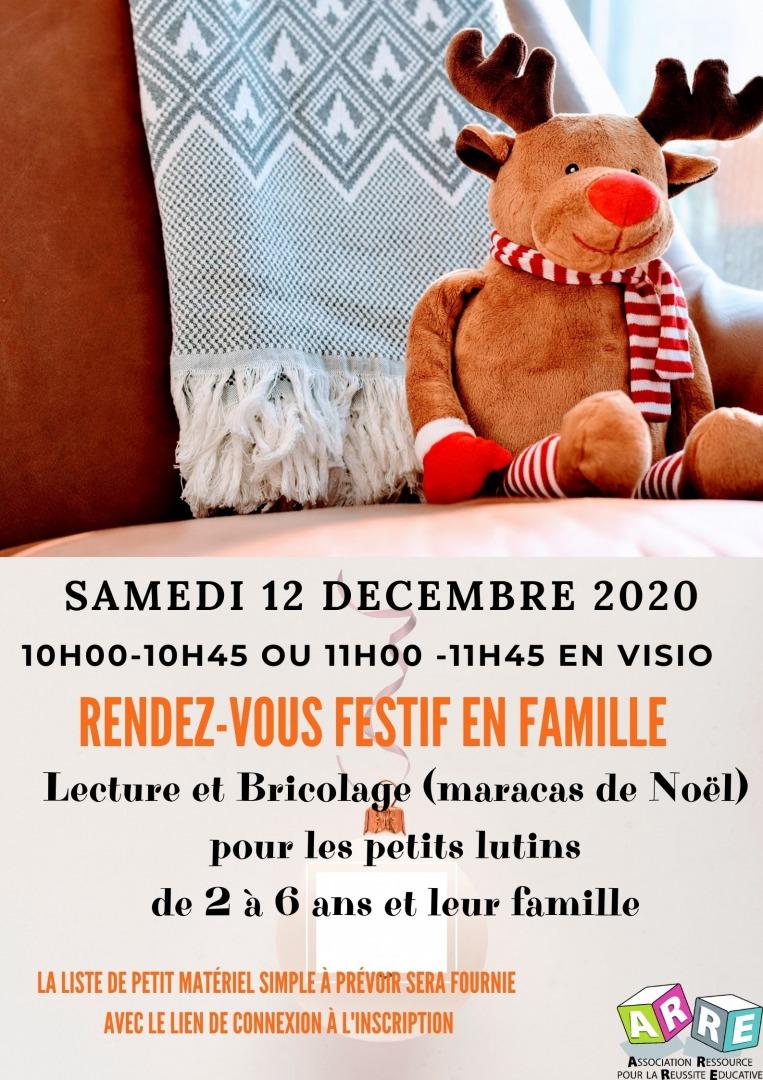 RDV festif en famille: Lecture et bricolage de Noël